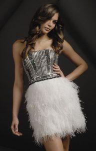 Short Feather Dress