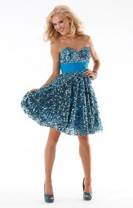 Short Sequin Prom Dresses