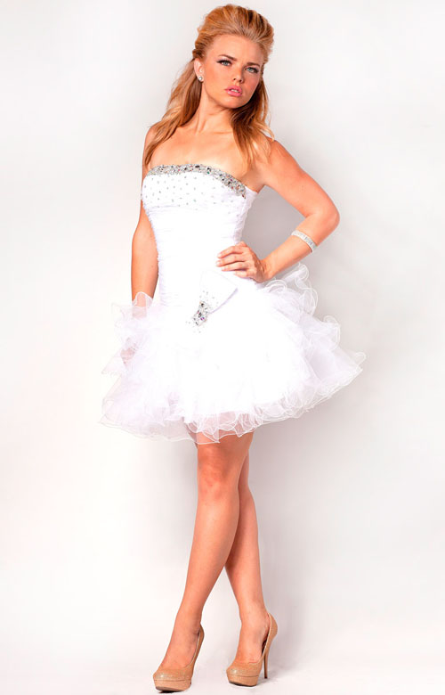 Short White Tulle Dress