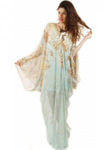Silk Kaftan Dress