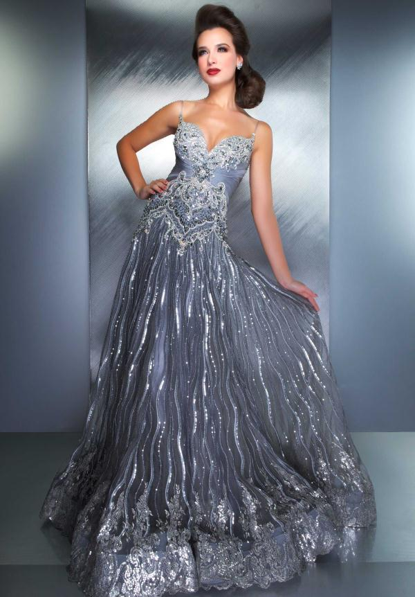 dress - Formal Silver dress pictures video