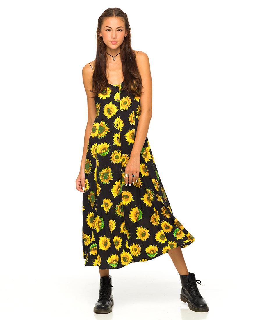 Sunflower Dress Dressed Up Girl