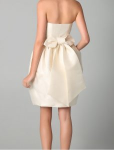 Strapless Back Bow Dress