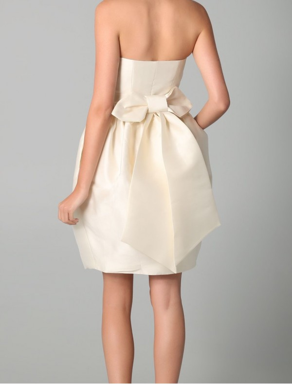 bow back dress dressed up girl