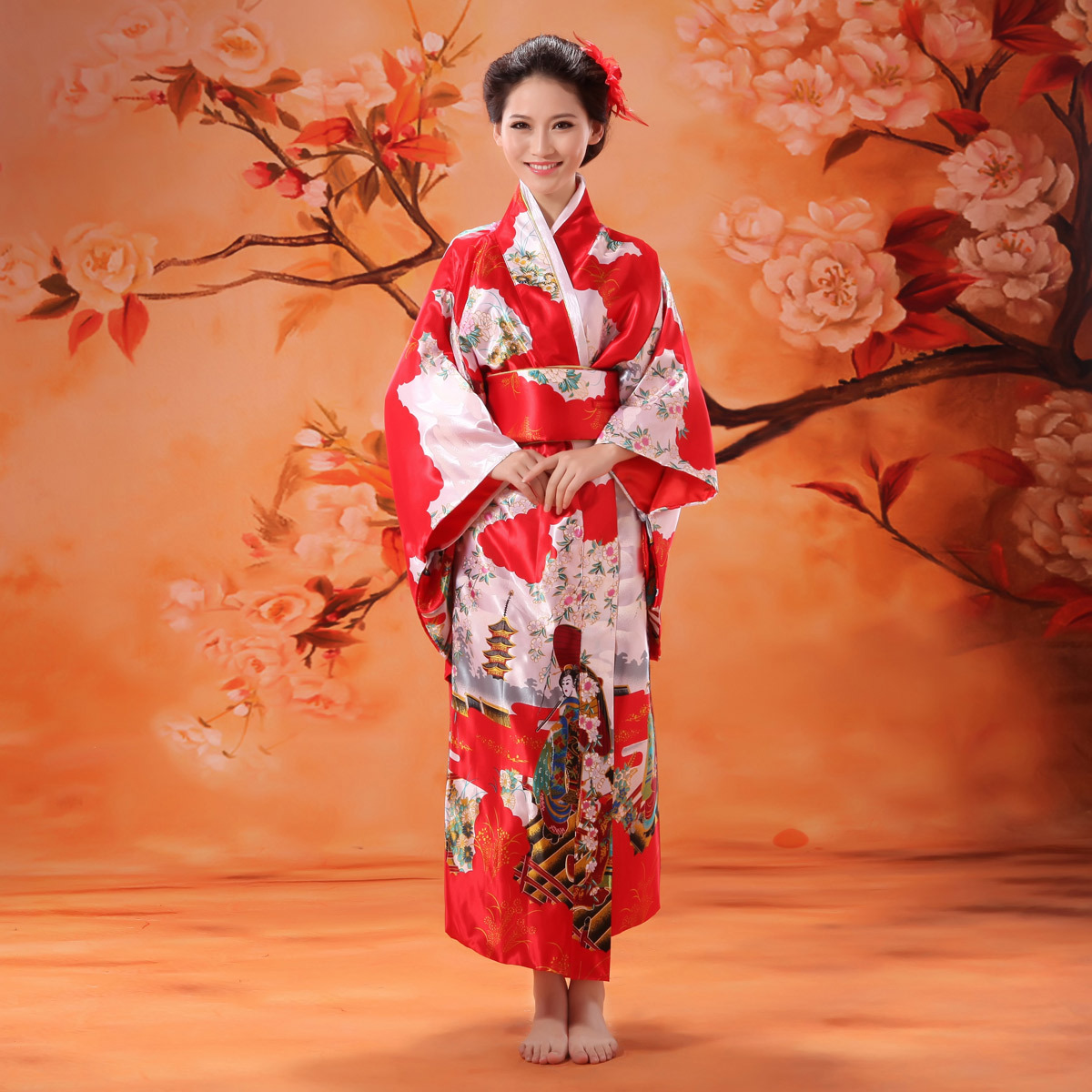 Kimono Dress Dressed Up Girl