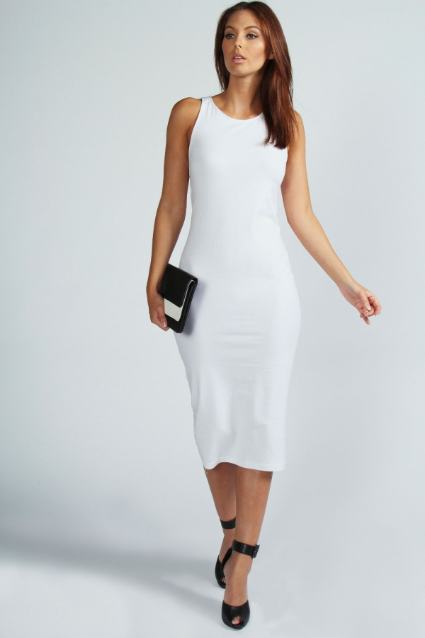 a9f1155eb0ee White Midi Dress Picture Collection