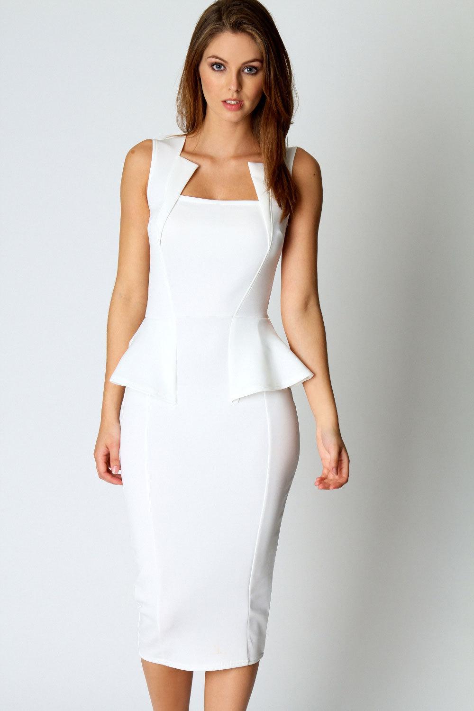 White Midi Dress Picture Collection Dressedupgirl Com