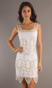 White Sequin Mini Dress