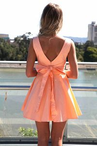Women Bow Back Dress