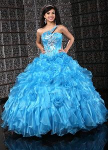 Aqua Blue Quinceanera Dresses