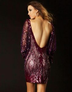 Backless Cocktail Dresses Long Sleeve