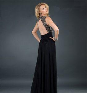 Black Backless Cocktail Dress