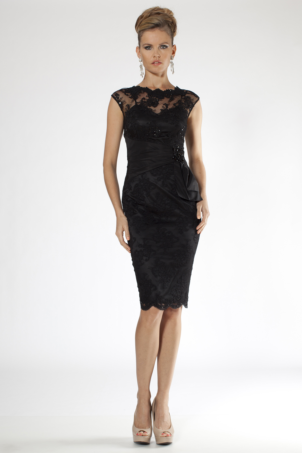 elegant black lace dresses - photo #47
