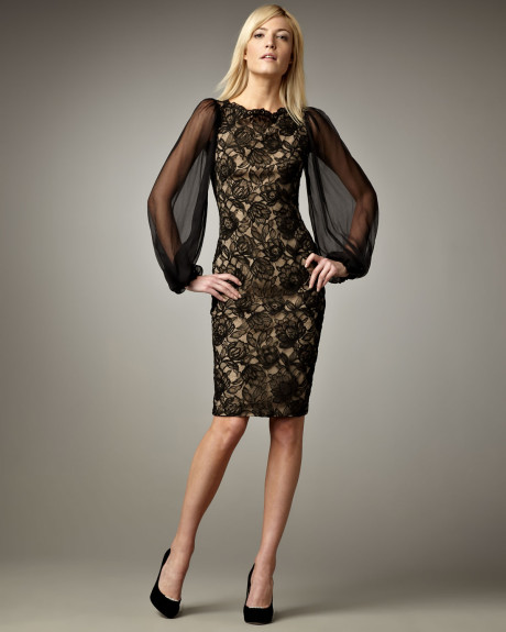 Black Lace Cocktail Dress | Dressed Up Girl