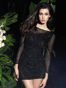 Black Long Sleeve Cocktail Dress