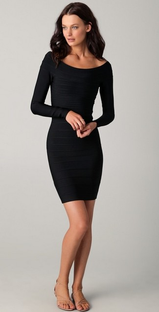 Black Cocktail Dresses Long Sleeves - Long Dresses Online