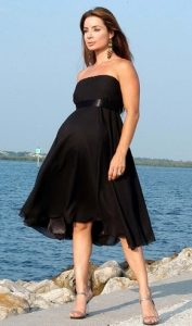 Black Maternity Bridesmaid Dress