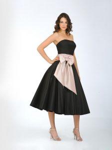 Black Tea Length Cocktail Dresses