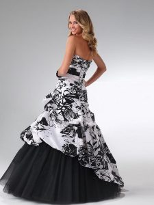Black and White Quinceanera Dresses