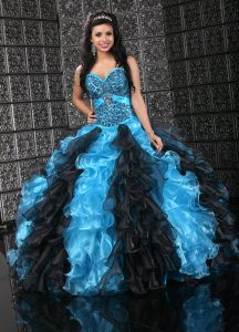 Blue and Black Quinceanera Dresses