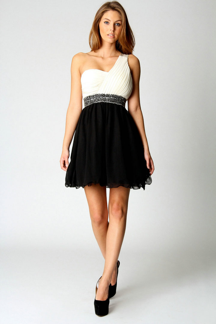 One Shoulder Cocktail Dress - Dressed Up Girl