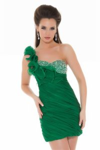 Emerald Green Cocktail Dress