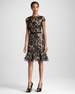 Lace Cocktail Dress Black