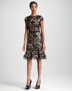 Lace Cocktail Dress Black