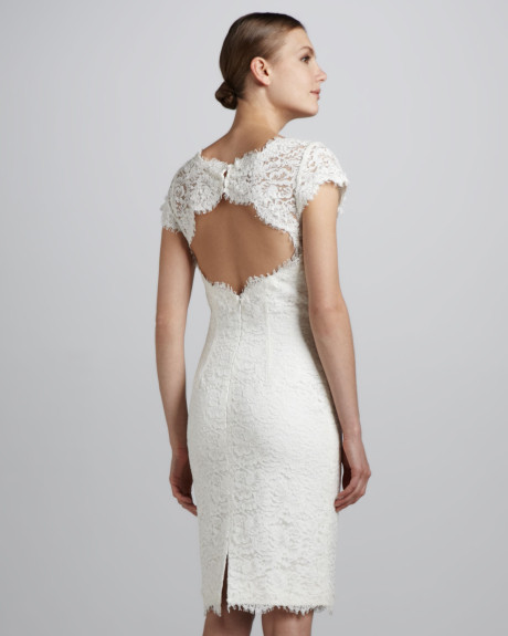 White Lace Cocktail Dress Dressed Up Girl