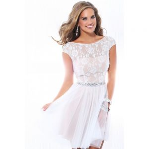 Lace White Cocktail Dress