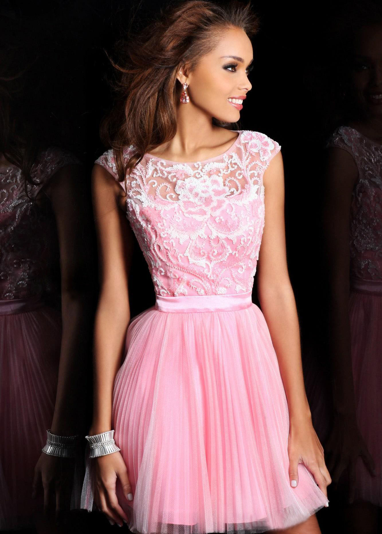 Short Pink Cocktail Dresses 32