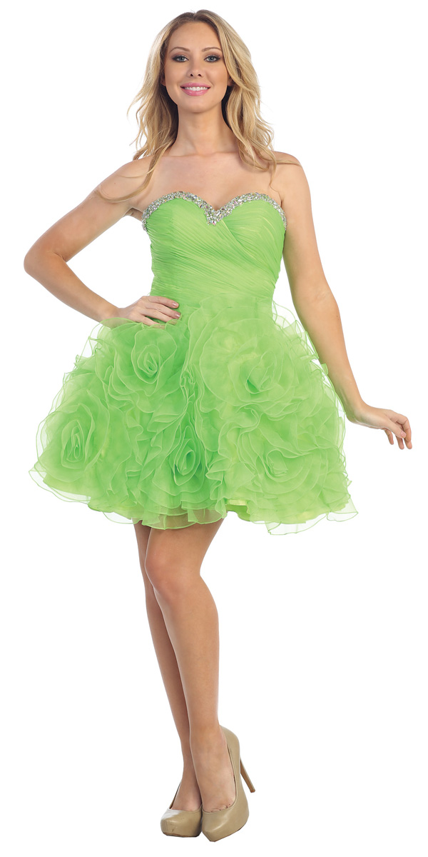 68fc24552f2 Green Cocktail Dress Picture Collection