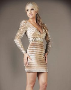 Long Sleeved Cocktail Dress