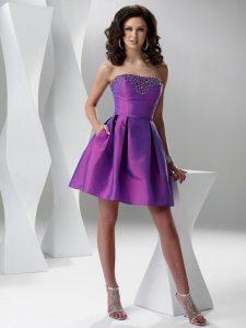 Mini Purple Cocktail Dress