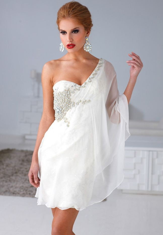 One Shoulder Cocktail Dress Picture Collection