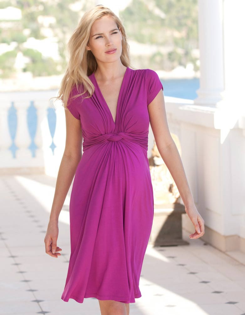 Pink Maternity Dress | Dressed Up Girl