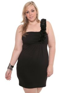 Plus Size One Shoulder Cocktail Dresses