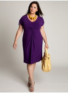Plus Size Purple Cocktail Dress