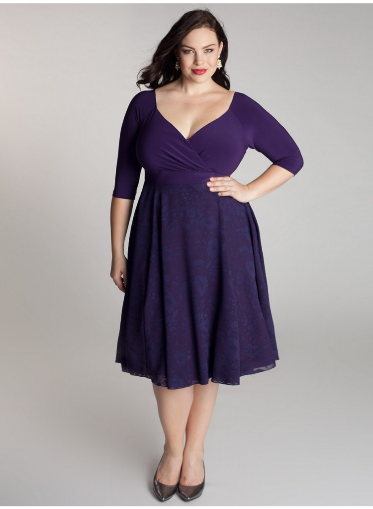 Purple cocktail dress dressed up girl for Purple plus size dresses for weddings