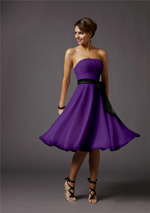 purple cocktail dress dressed up girl