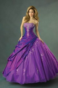 Purple Dama Dresses for Quinceanera