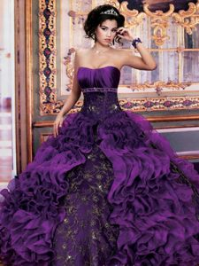 Purple Dresses for Quinceaneras