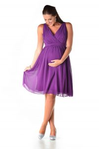 Purple Maternity Bridesmaid Dresses