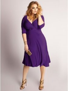 Purple Plus Size Cocktail Dresses