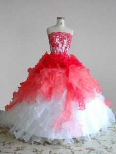 Quinceanera Dresses Red and White