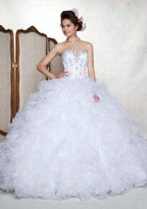 Quinceanera White Dresses