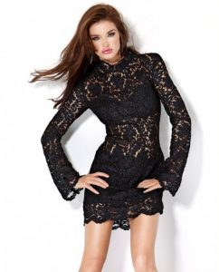 Short Black Lace Cocktail Dress