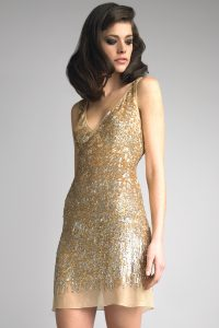 Short Gold Cocktail Dress