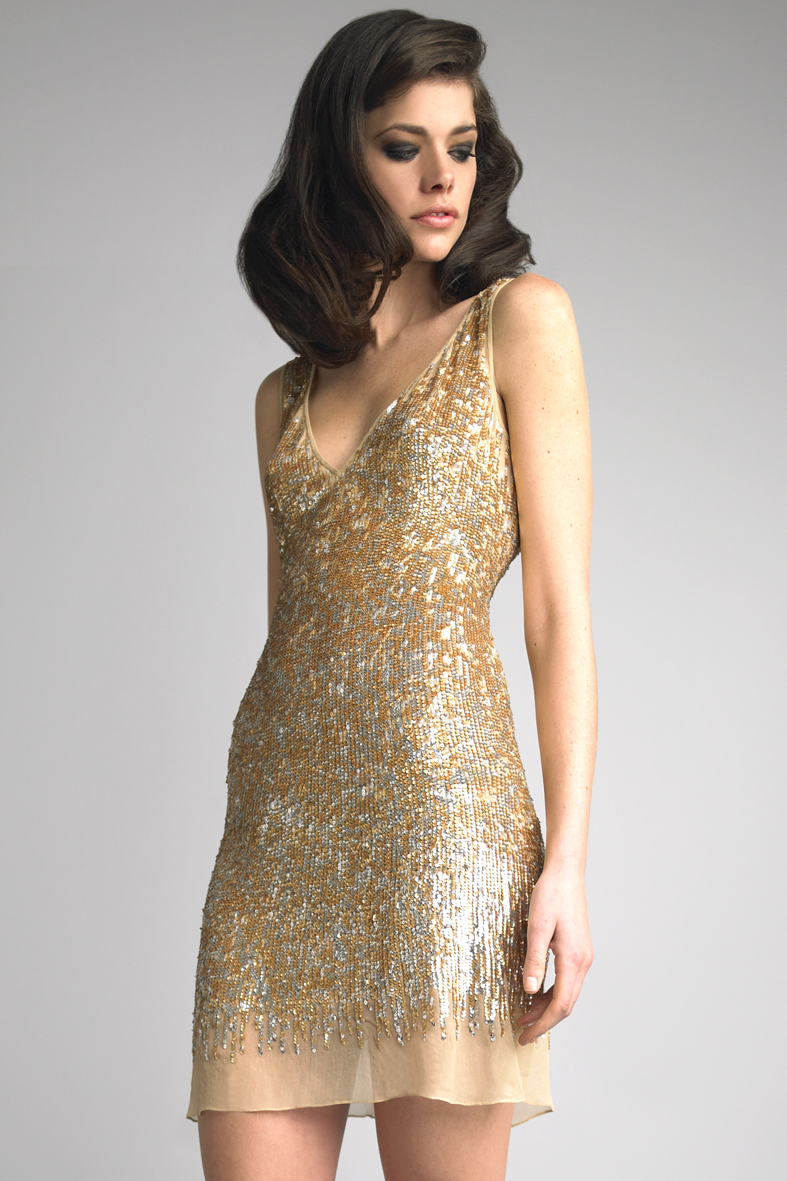 Gold Cocktail Dress - Dressed Up Girl
