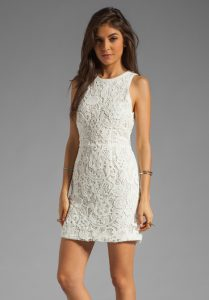White Lace Cocktail Dress Images